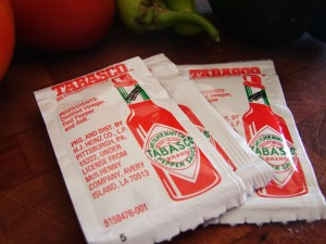 Tabasco PC Condiment Packet