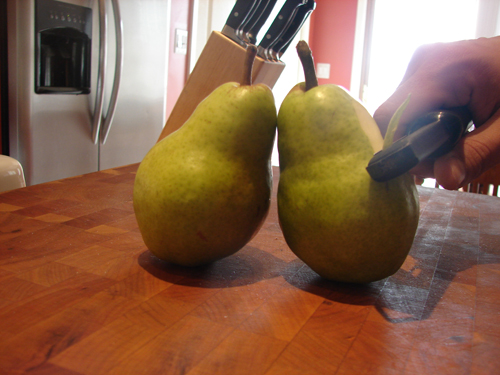 Pears are one of the easiest fruits to peel.